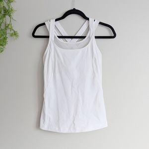 (Lululemon) White Crisscross Athletic Tank 6